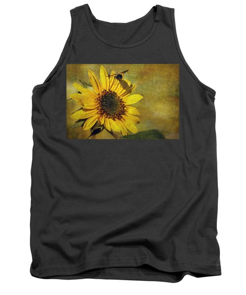 Sunflower And Bumble Bee Tank Top