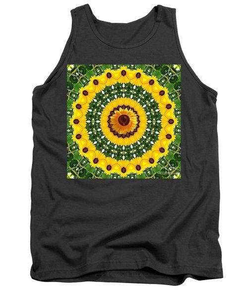 Sunflower Centerpiece Tank Top