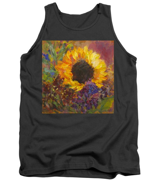 Sunflower Dance Original Painting Impressionist Tank Top