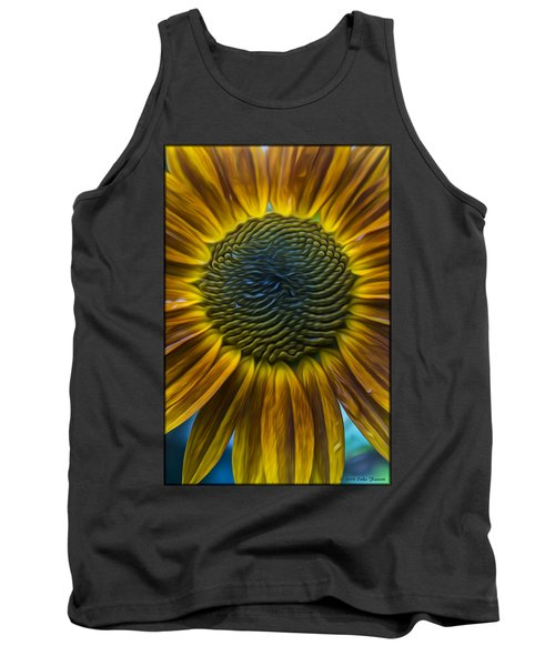 Sunflower In Rain Tank Top