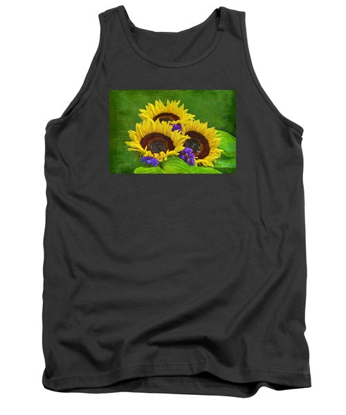 Sunflower Trio Tank Top by Sandi OReilly