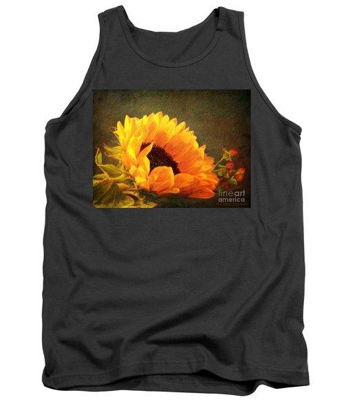 Sunflower - You Are My Sunshine Tank Top by Lianne Schneider