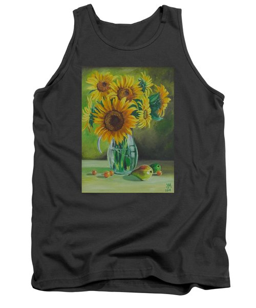 Sunflowers In Glass Jug Tank Top