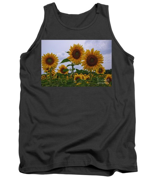Tank Top featuring the photograph Sunny Faces by Debra Fedchin