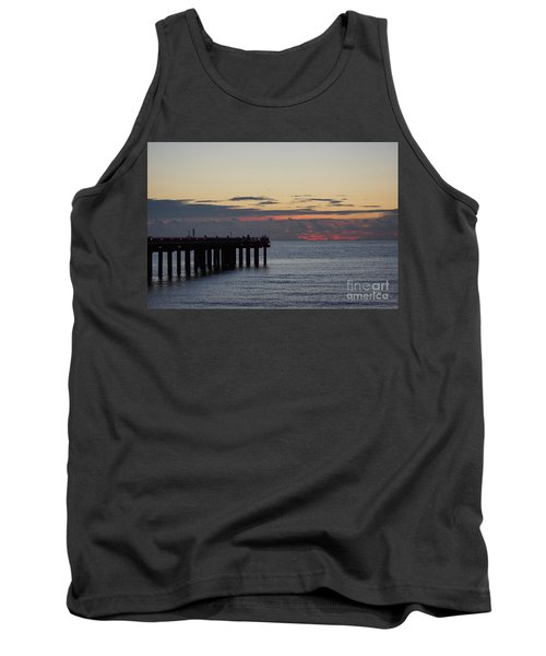 Tank Top featuring the photograph Sunny Isles Fishing Pier Sunrise by Rafael Salazar