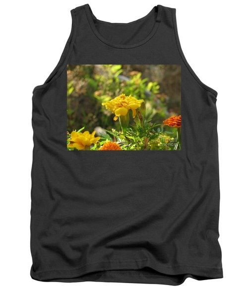 Sunny Marigold Tank Top by Leone Lund
