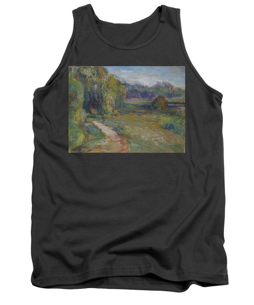 Sunny Morning In The Park -wetlands - Original - Textural Palette Knife Painting Tank Top