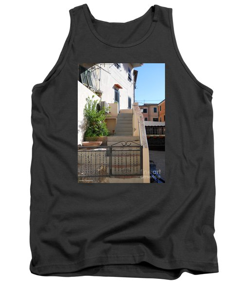 Tank Top featuring the photograph Sunny Tuscany Village by Ramona Matei