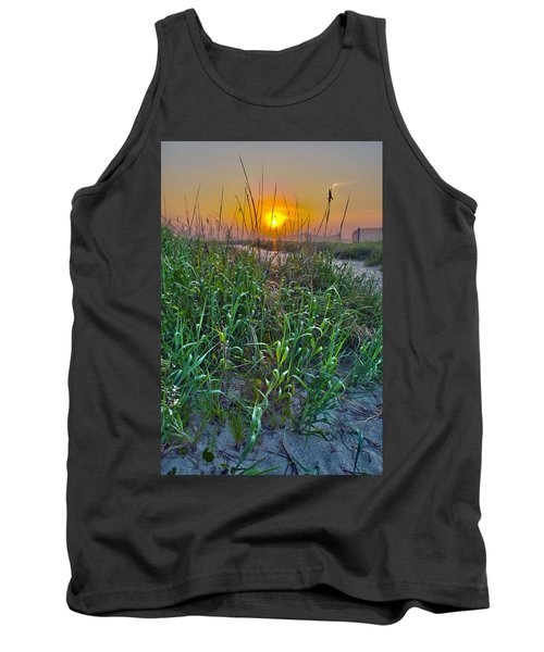 Tank Top featuring the photograph Sunrise At Myrtle Beach by Alex Grichenko