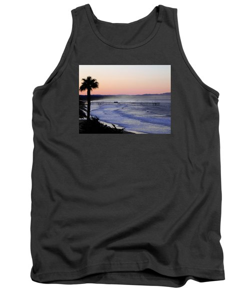 Tank Top featuring the photograph Sunrise At Pismo Beach by Kathy Churchman