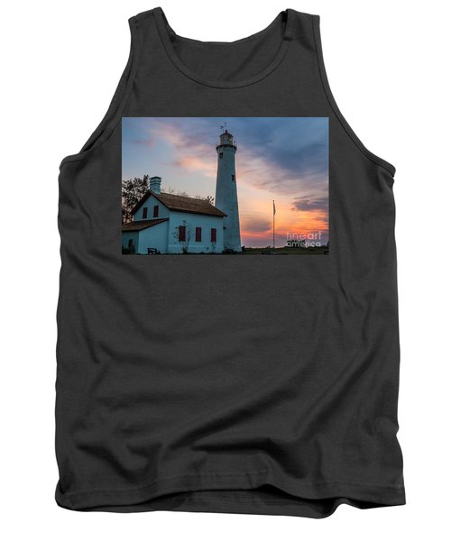 Tank Top featuring the photograph Sunrise At Sturgeon Point by Patrick Shupert