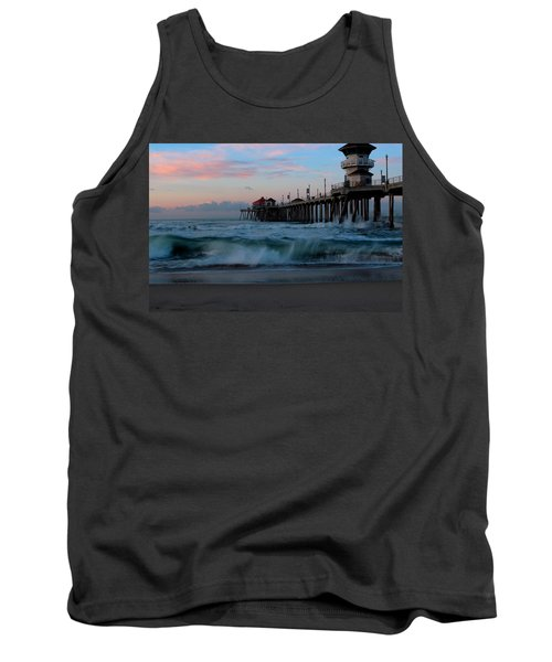 Sunrise At The Pier Tank Top by Duncan Selby