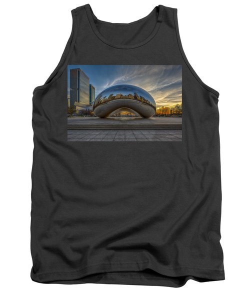 Tank Top featuring the photograph Sunrise Cloud Gate by Sebastian Musial