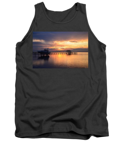 Tank Top featuring the photograph Sunrise Colors On The Sound by Jeff at JSJ Photography