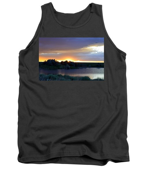 Tank Top featuring the photograph Sunrise Over Kinney Lake by Clarice  Lakota