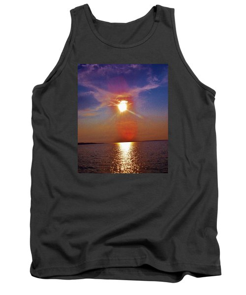 Tank Top featuring the photograph Sunrise Over The Big Mac by Daniel Thompson