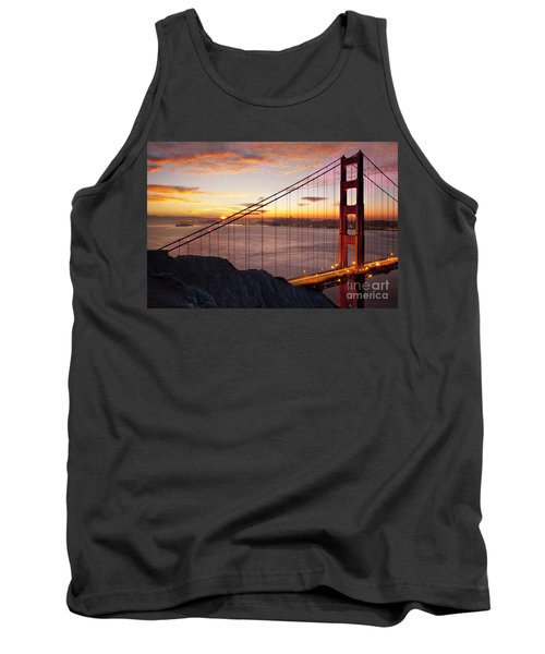 Sunrise Over The Golden Gate Bridge Tank Top