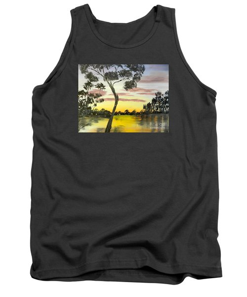 Sunrise Over The Murray River At Lowson South Australia Tank Top