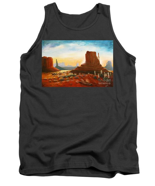 Sunrise Stampede Tank Top by Marilyn Smith