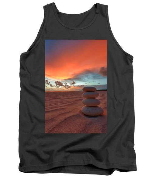 Tank Top featuring the photograph Sunrise Zen by Sebastian Musial