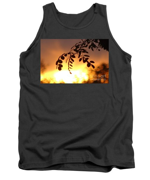Tank Top featuring the photograph Sunset And Leaves by Justin Moore