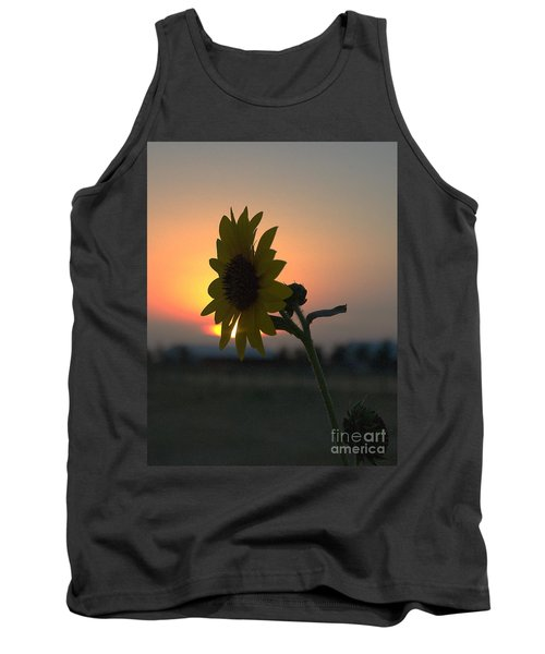 Tank Top featuring the photograph Sunset And Sunflower by Mae Wertz