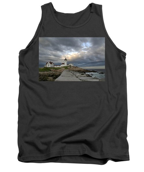 Sunset At Eastern Point Lighthouse Tank Top