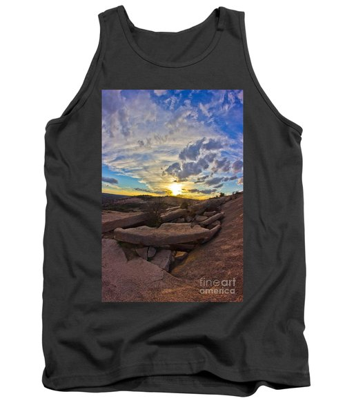 Sunset At Enchanted Rock State Natural Area Tank Top