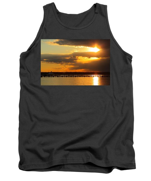 Sunset At National Harbor Tank Top