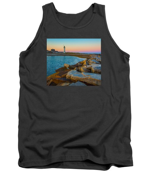 Sunset At Old Scituate Lighthouse Tank Top by Brian MacLean