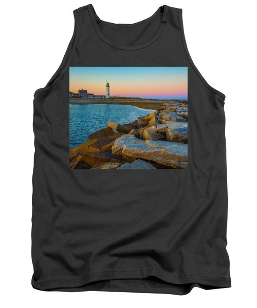 Sunset At Old Scituate Lighthouse Tank Top