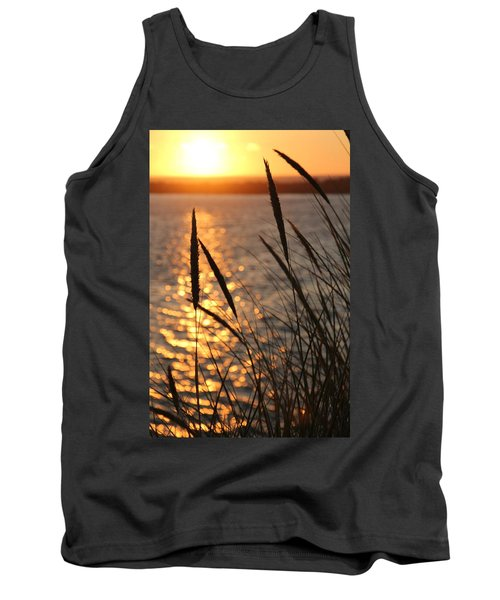 Tank Top featuring the photograph Sunset Beach by Athena Mckinzie