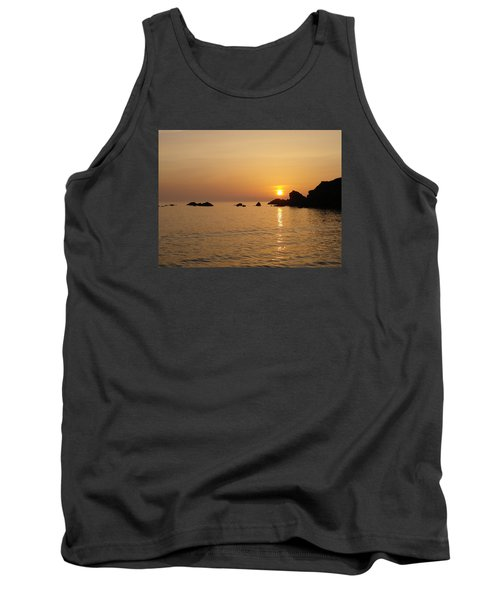 Sunset Crooklets Beach Bude Cornwall Tank Top by Richard Brookes