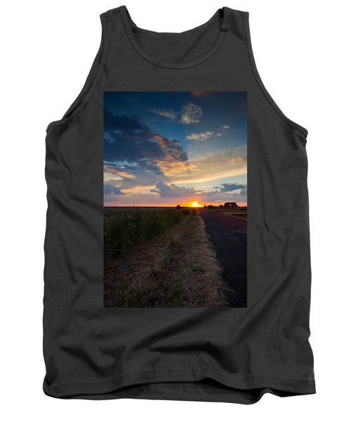 Sunset Down A Country Road Tank Top by Mark Alder