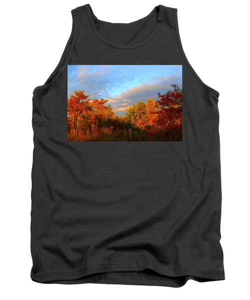 Tank Top featuring the photograph Sunset Glow by Kathryn Meyer
