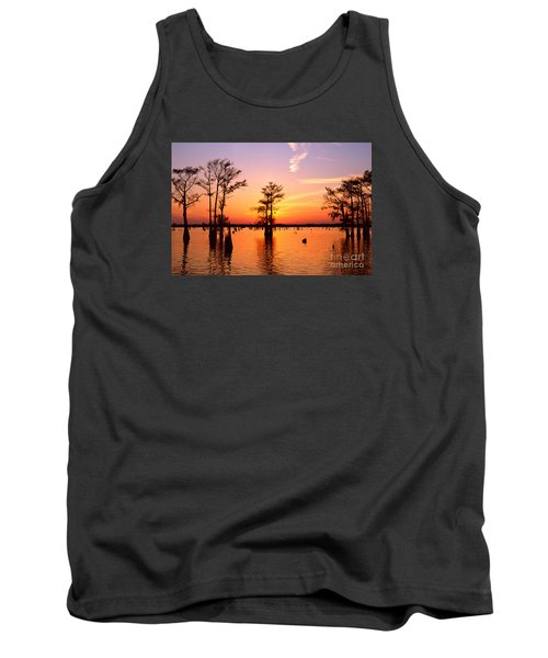 Sunset Lake In Louisiana Tank Top