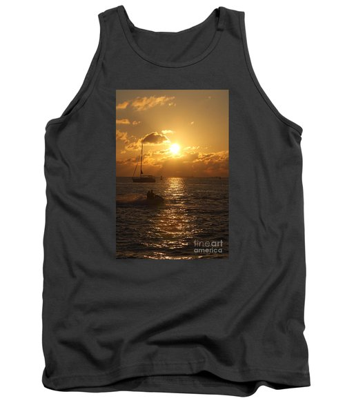 Sunset Over Key West Tank Top by Christiane Schulze Art And Photography