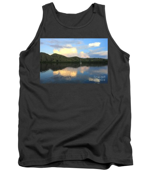 Sunset On Komodo Tank Top by Sergey Lukashin