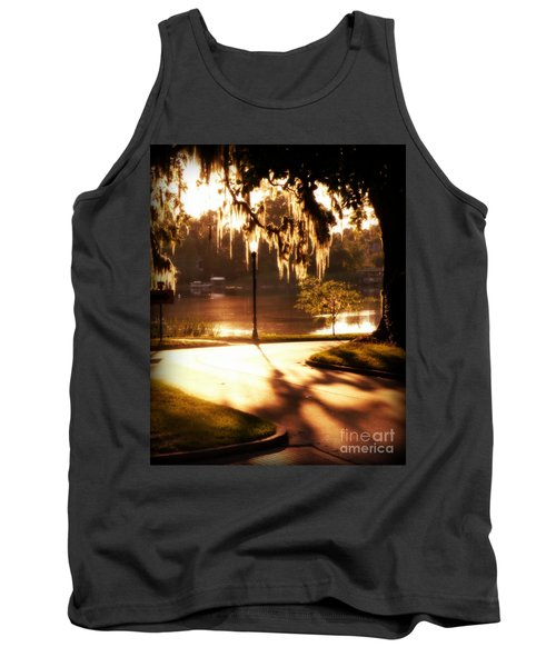 Tank Top featuring the digital art Sunset On Lake Mizell by Valerie Reeves