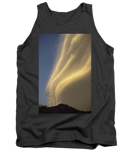 Sunset On Storm Clouds Near Mt Cook Tank Top