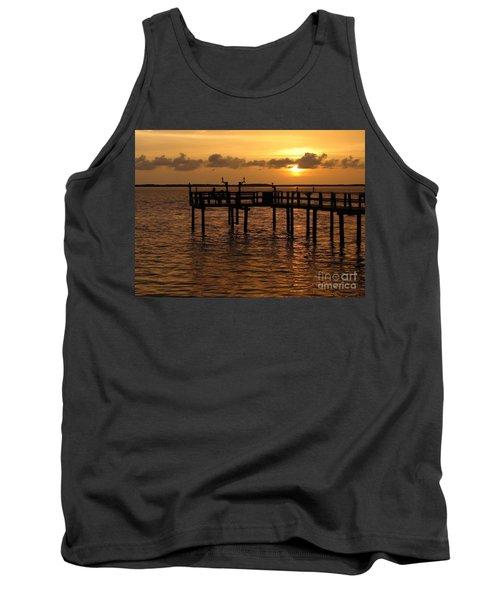 Sunset On The Dock Tank Top