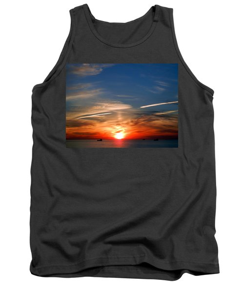 Sunset On The Gulf Of Mexico Tank Top by Debra Martz