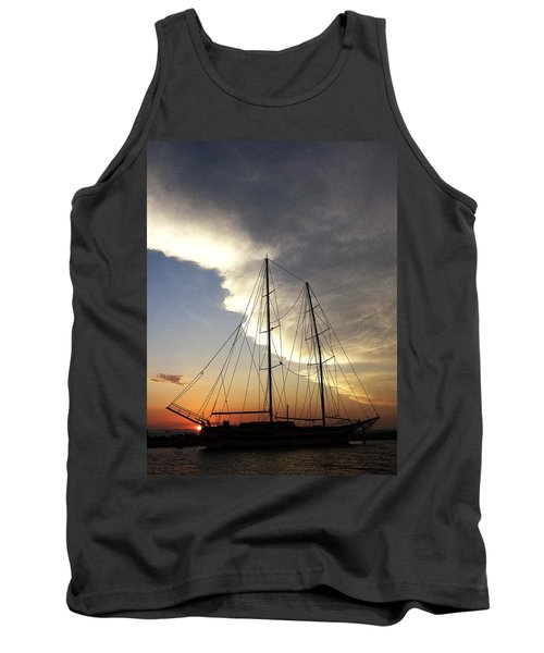 Sunset On The Turkish Gulet Tank Top