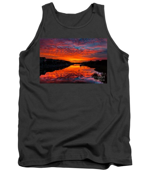 Sunset Over Morgan Creek - Wild Dunes Resort Tank Top