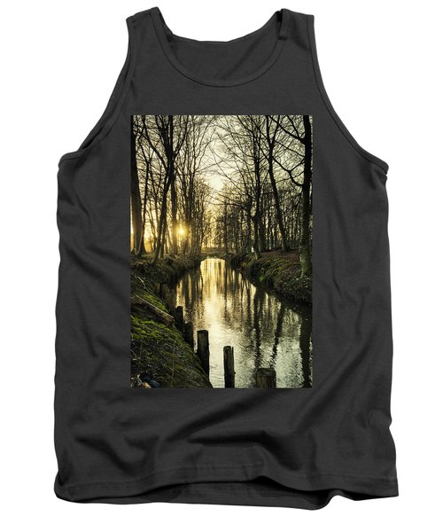 Sunset Over Stream Tank Top