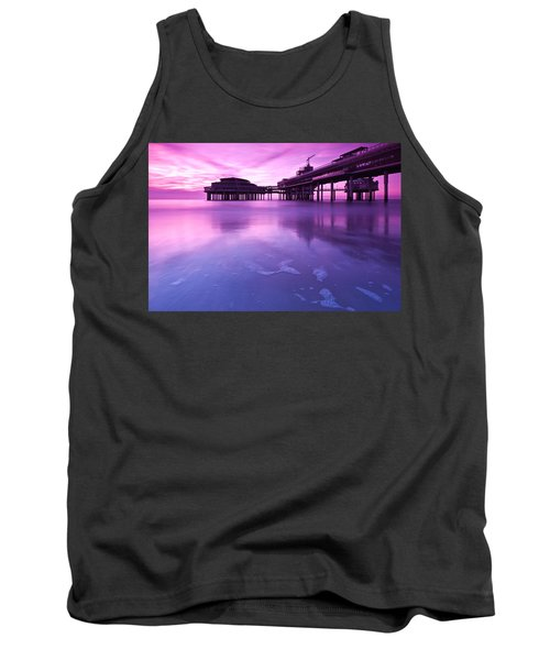 Sunset Over The Pier Tank Top by Mihai Andritoiu