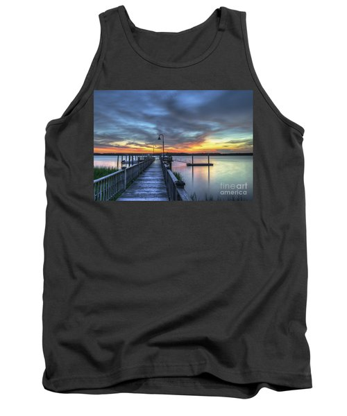 Sunset Over The River Tank Top