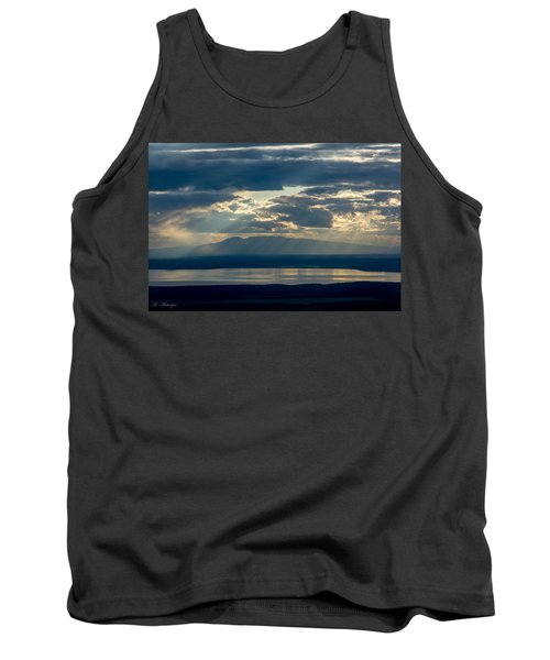 Sunset Rays Over Mount Susitna Tank Top
