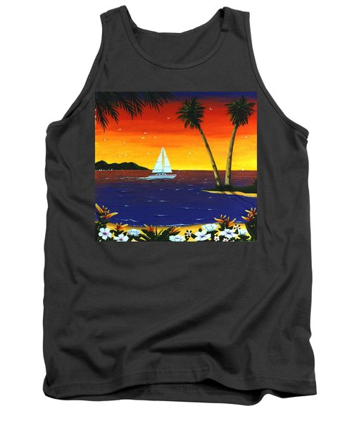 Sunset Sails Tank Top by Lance Headlee
