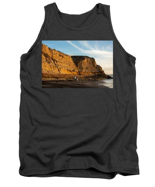 Sunset Walk At Flat Rock  La Jolla California Tank Top